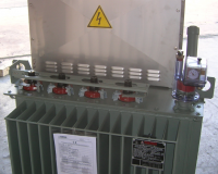 Earthing transformer with resistance