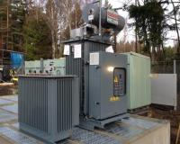 Oil filled 3-phase earthing transformer + oil filled arc suppression coil