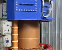 200 kV transformer for bushings testing room